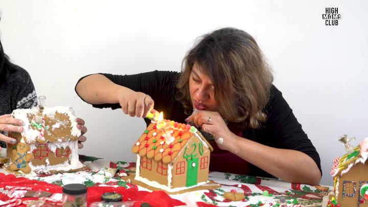 High Moms Make Smokable Gingerbread Houses Thumbnail