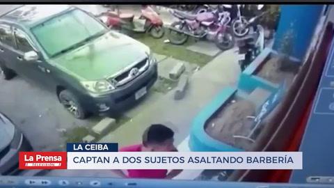 Captan a dos sujetos asaltando barbería en La Ceiba