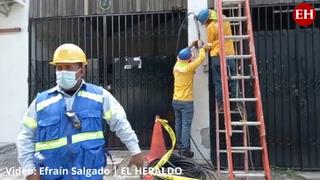 VIDEO: Cuadrilla de la ENEE y EEH realiza cortes de electricidad en colonia Tepeyac