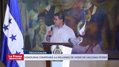 Honduras comprará 4.4 millones de dosis de vacunas Pfizer