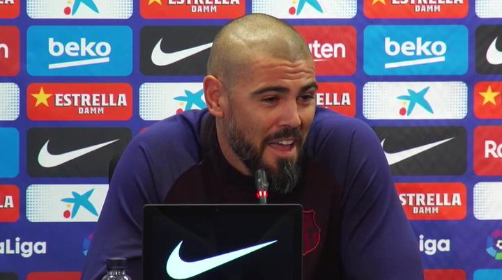 Valdés bromeó con su despido el día de su presentación