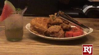 Watermelon Mojitos and Chicken 'N' Watermelon 'N' Waffles at Yardbird Southern Table & Bar