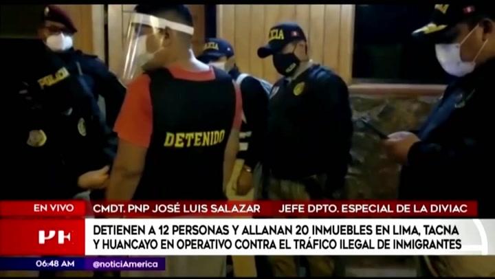 Doce detenidos en operativo contra el tráfico ilegal de inmigrantes