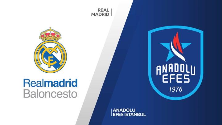 Resumen del Real Madrid - Anadolu Efes de Euroliga