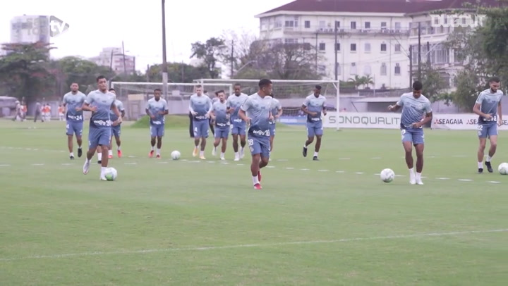 Santos's training session at CT Rei Pelé
