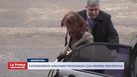 Expresidenta Kirchner procesada con prisión preventiva