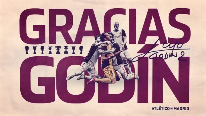 Gracias Godín. El vídeo de despedida del Atlético de Madrid