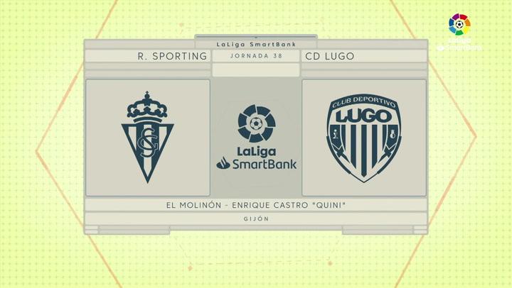 LaLiga SmartBank (J38): Resumen y gol del Sporting 1-0 Lugo