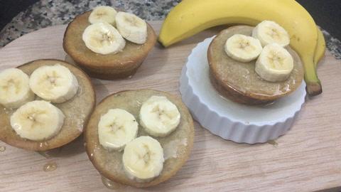 Cómo hacer muffins de banano