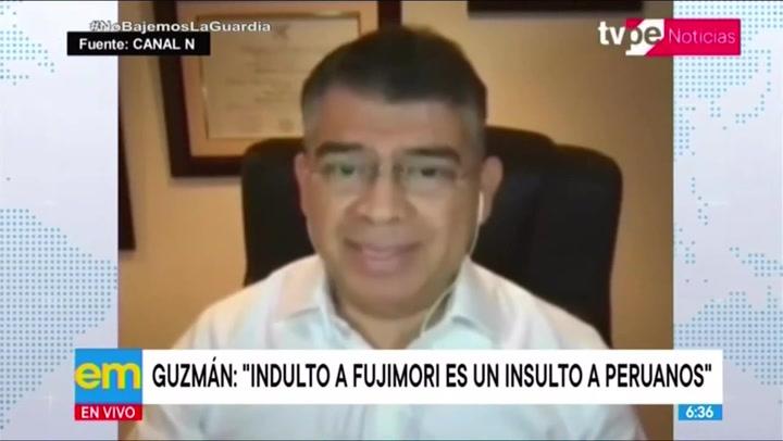 """Julio Guzmán: """"El indulto a Alberto Fujimori es un insulto a todos los peruanos"""""""