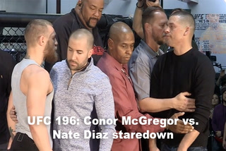 UFC 196: McGregor vs. Diaz staredown