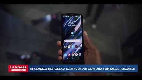 El clásico Motorola Razr vuelve con una pantalla plegable