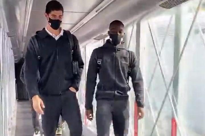 El Real Madrid de camino a Valencia