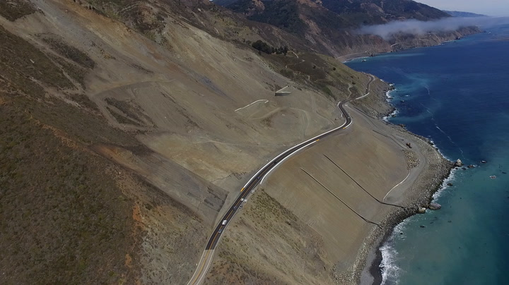 Big Sur's new stretch of highway already cracking - SFChronicle com