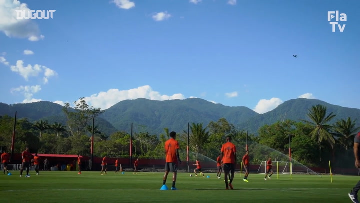 Flamengo's training session ahead of Macaé clash