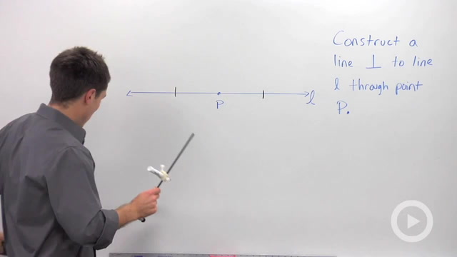 Constructing a Perpendicular at a Point on a Line