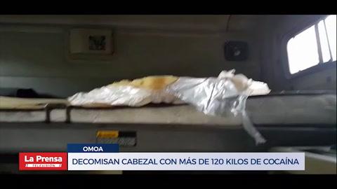 Decomisan cabezal con más de 120 kilos de cocaína en frontera con Guatemala