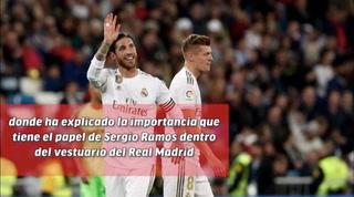 Tony Kroos le tira flores a Sergio Ramos como capitán del Real Madrid