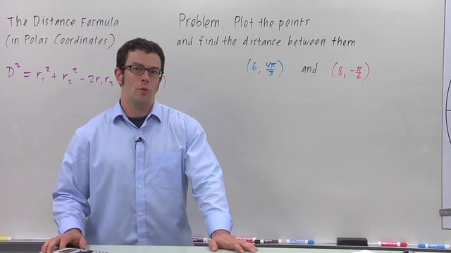 The Distance Formula in Polar Coordinates - Problem 2