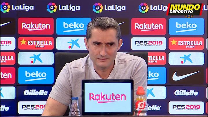 Rueda de prensa de Valverde previa al duelo contra el Getafe