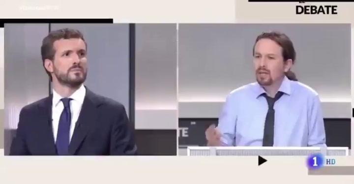 Pablo Iglesias sufre un lapsus lingüístico en pleno debate electoral