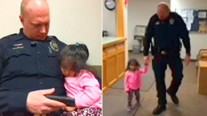 Politimannen med rørende omsorg for jenta i retten