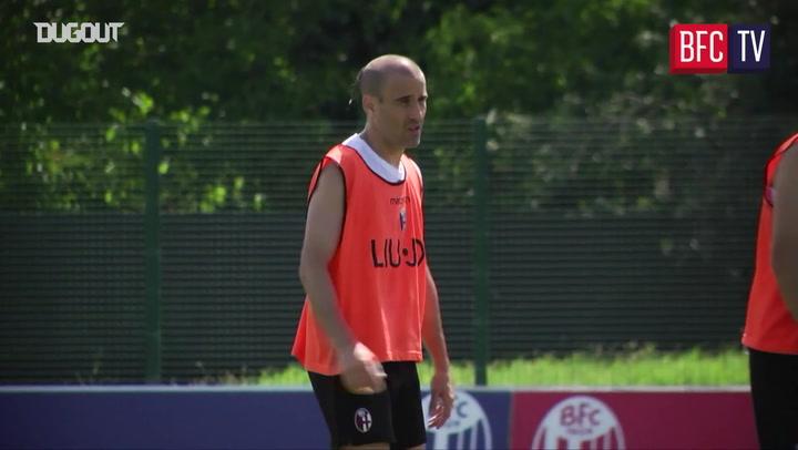 Bologna return to training ahead of Sampdoria clash