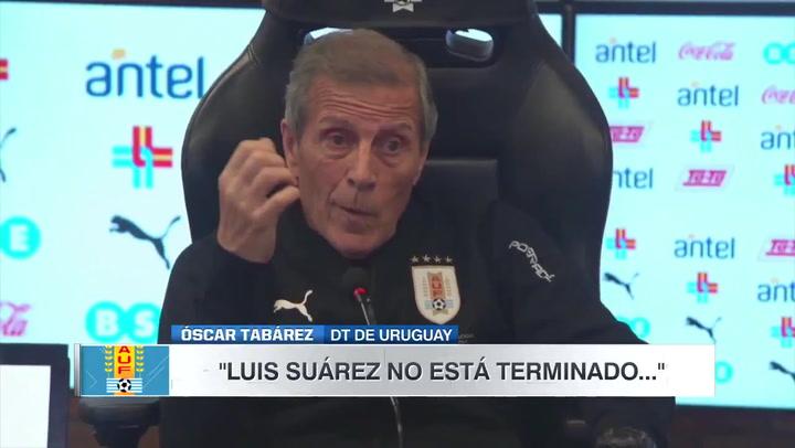 Tabárez defiende a capa y espada a Luis Suárez poniendo de ejemplo a Pelé
