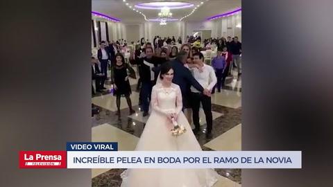 Increíble pelea en boda por el ramo de la novia