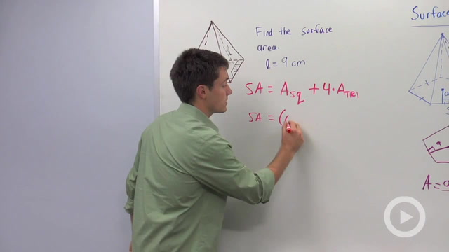 Surface Area of Pyramids - Problem 1