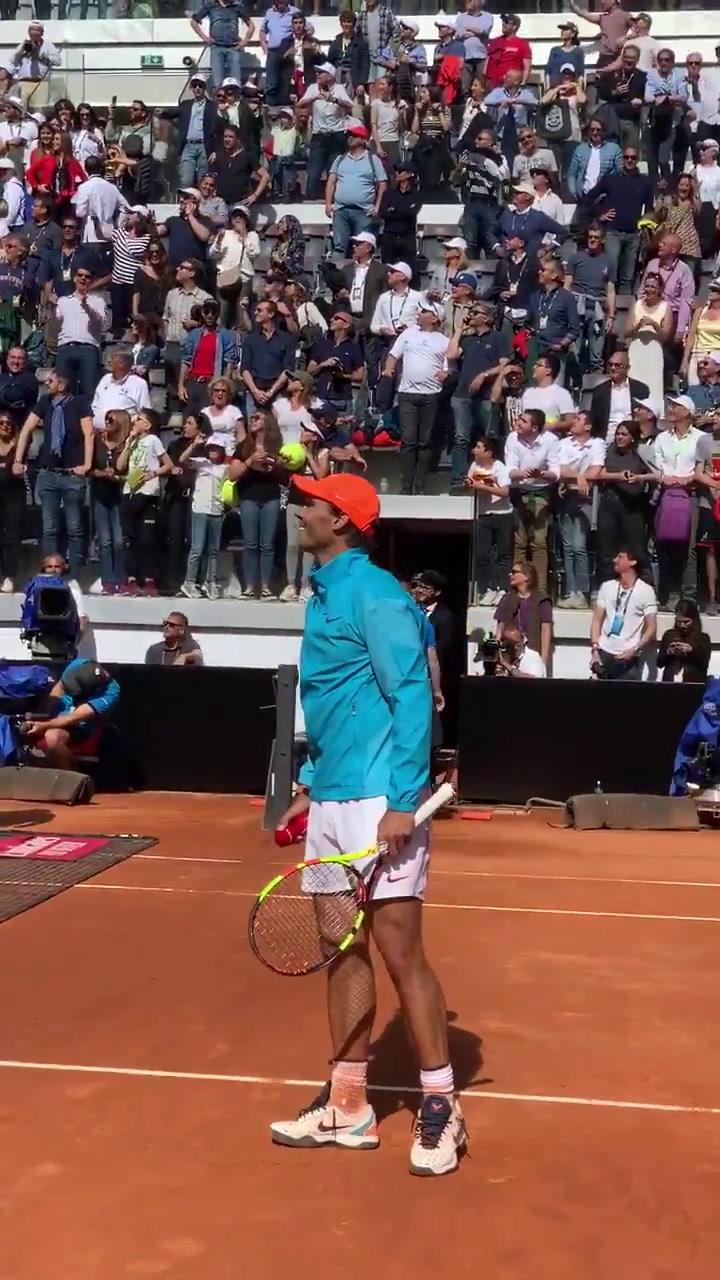 Rafa Nadal celebra su victoria ante Verdasco