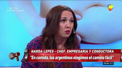 No le podés preguntar a un chico qué quiere comer, dijo Narda Lepes