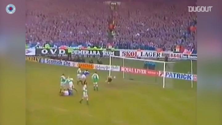 Ally McCoist's League Cup final overhead kick