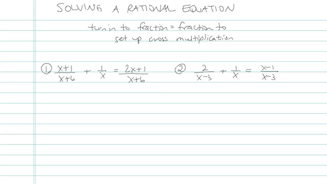 Solving a Rational Equation - Problem 5