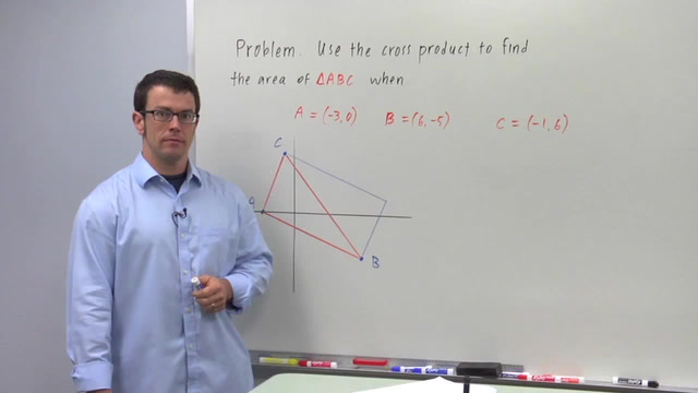 Area With the Cross Product - Problem 2