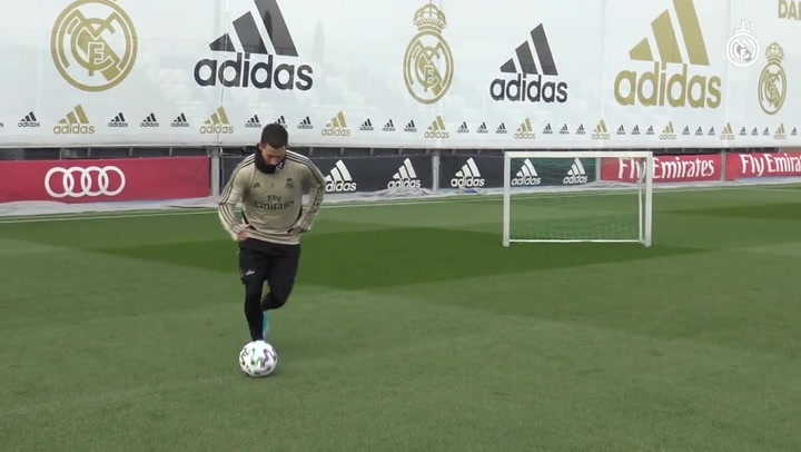 Último entrenamiento del Real Madrid antes de los octavos de Copa