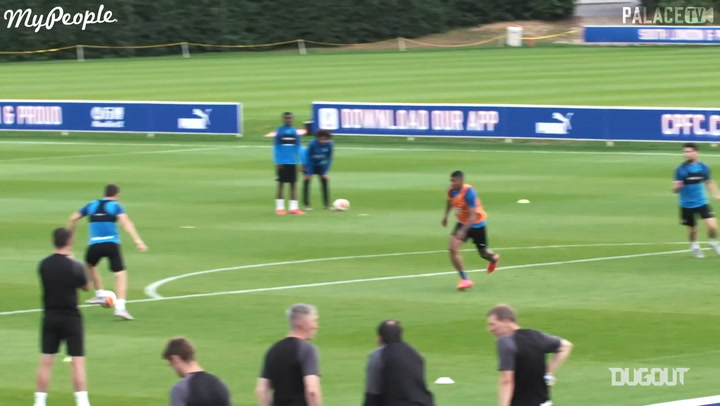 Christian Benteke shows finishing precision in Palace training