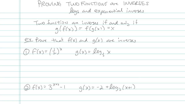Proving Two Functions are Inverses - Problem 4