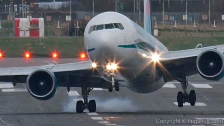 Sjekk den harde landingen
