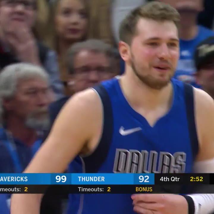 Luka Doncic hace 35 puntos en la derrota de Dallas ante Oklahoma