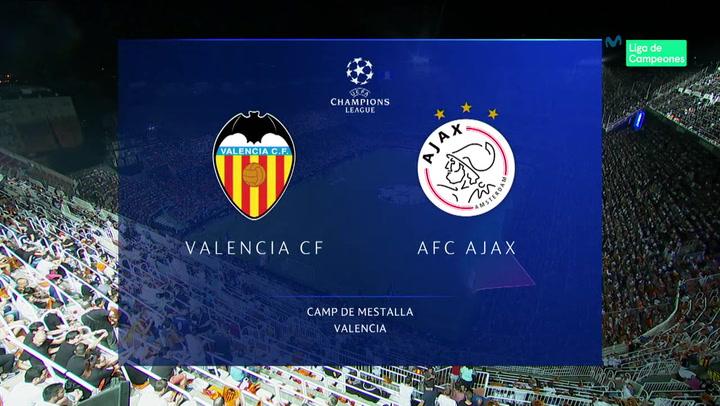 Champions League: Resumen y Goles del Partido Valencia - Ajax