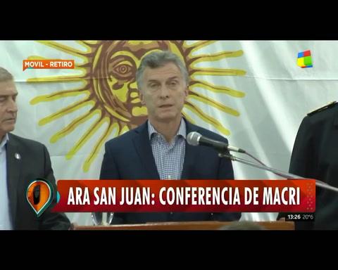 Macri destacó el patriotismo de los 44 tripulantes del submarino desaparecido