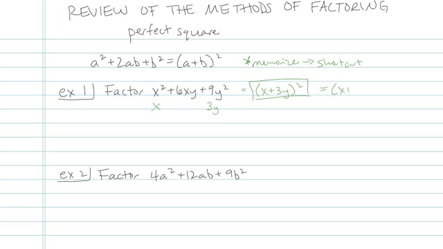 Review of the Methods of Factoring - Problem 8