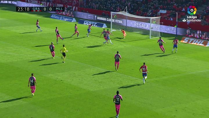 Gol de Montoro (1-0) en el Granada 1-0 Mallorca