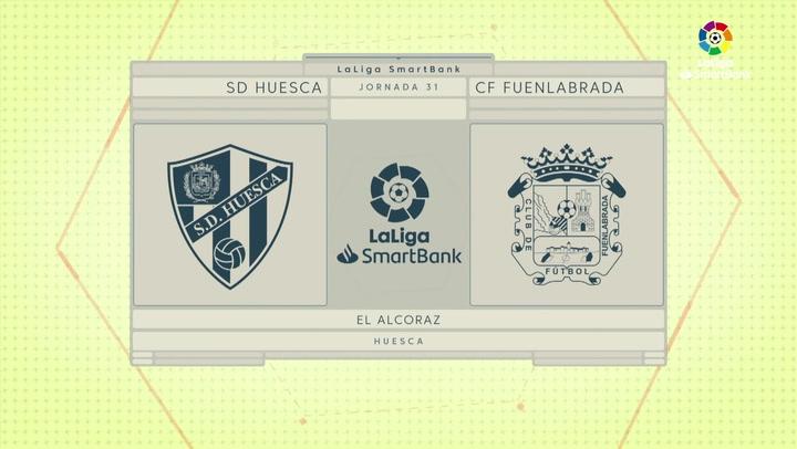 LaLiga SmartBank (J31): Resumen y goles del Huesca 2-0 Fuenlabrada