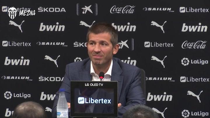 Primeras palabras de Albert Celades como nuevo entrenador del Valencia
