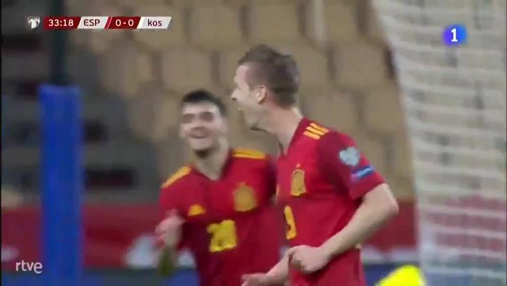 Golazo de Dani Olmo para adelantar a España ante Kosovo