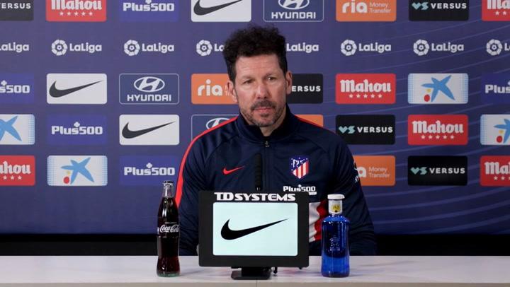Simeone afirma que el partido contra el Alavés será