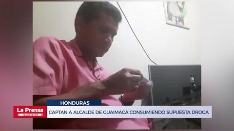 Captan a alcalde de Guaimaca consumiendo supuesta droga