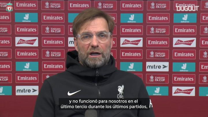 Klopp habla de la confianza del Liverpool